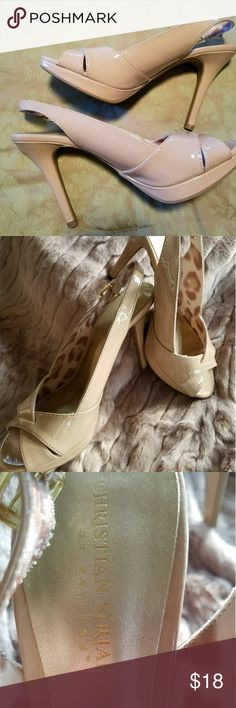 Nude Slingback Platform Pumps  8-1/2 Nearly New nude pumps. Great for office or a night out.  These will be pictured with some of my other listings. Christian Seriano Shoes Heels