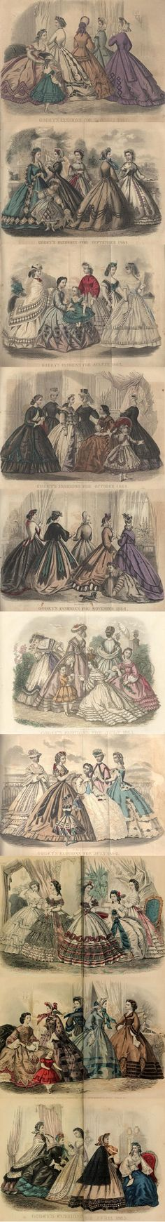Here is another grouping from the Godey's Lady's Books that can be read on the DIY Collaboratorium's Library page