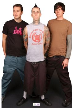Blink 182 Group Cardboard Cutout