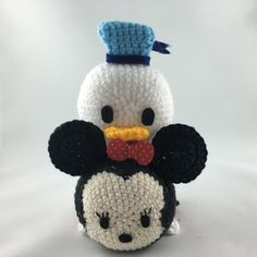 Minnie Mouse and Donald Duck Tsum Tsum #amigurumi #crochet #disney #tsumtsum…