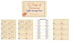The MamaZone: 12 Days of Romance Printable Scavenger Hunt