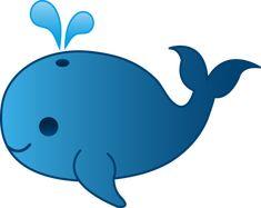 Little Blue Whale Clip Art   Free Clip Art