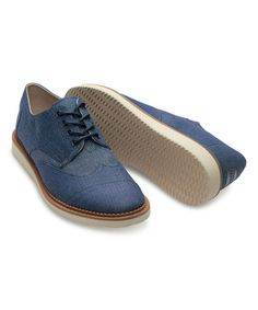 Another great find on #zulily! Blue Chambray Lace-Up Brogues #zulilyfinds