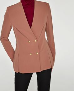 Image 2 of DOUBLE BREASTED JACKET from Zara