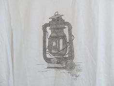 Original Drawing T-Shirt Mens Womens Antique Railroad Lantern by ACreativeDrawing, $30.00 Lantern Drawing, Pencil Art, Lanterns, My Arts, The Originals, Antiques, Drawings, Artwork, Shirt