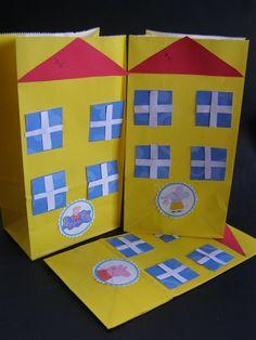 PEPPA PIG House Paper Houses Goodie Bags Loot by MesBellesSoeurs, $14.29