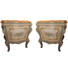 Pair Italian Venetian Side Tables | From a unique collection of antique and modern side tables at http://www.1stdibs.com/furniture/tables/side-tables/ SWEET
