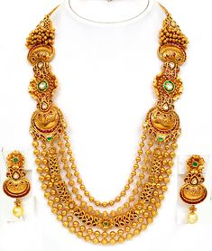 Gold Necklaces Designs in Dubai | vbj gold necklace antique finish haram set pic 2 hawaiidermatology com ...