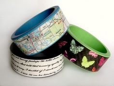 fun easy crafts for teens | Get the instructions for ––> Mod Podge Wooden Bracelets