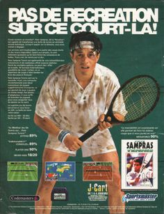 Pete Sampras Tennis for Mega Drive and Game Gear (France, Codemasters / Sportsmaster, July 1994)