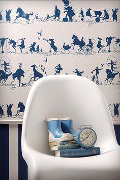 Catherine Martin Wallpaper - Circus Silhouette
