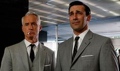 Best faces ever. #MadMen #Don #Roger