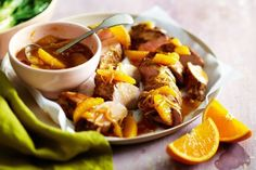 Pork with orange and ginger sauce