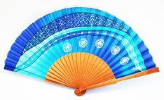 The quality and color of a hand-painted natural silk fan make it a textile jewel. Textiles, Craft Art, Gaudi, Hand Fan, Jewel, Hand Painted, Random, Diy, Crafts