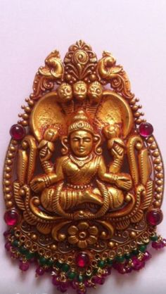 Gold Handmade Antique Laxmi Pendant. Temple Jewellery Kolhapur.  K T ARTS 09158990151
