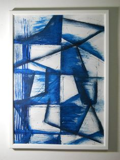 Original Modern Abstract Watercolor Painting 117x165 by Awandesome, €30.00 I love blue art