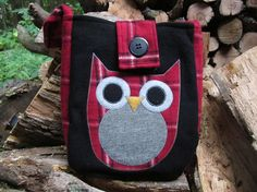 Owl crossbody bag totebag recycled wool by granniesraggedybags, $30.00