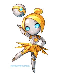 Orianna chibi LOL by justduet.deviantart.com on @deviantART justduet.tumblr.com on Tumblr