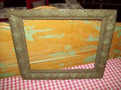 Vintage Wooden Picture Frame.. $20.00, via Etsy.