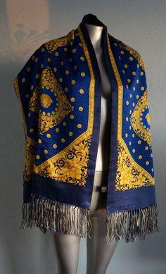 Gianni versace silk scarf medusa carre de soie tuch schal - Hermes schal herren ...