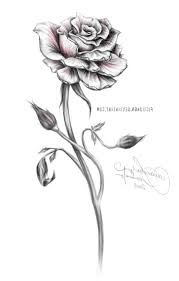 Image result for tiny black and white rose tattoo