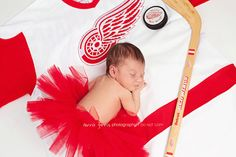 Go Wings! Also would be cute with Dad's jersey. Can do with any sport!