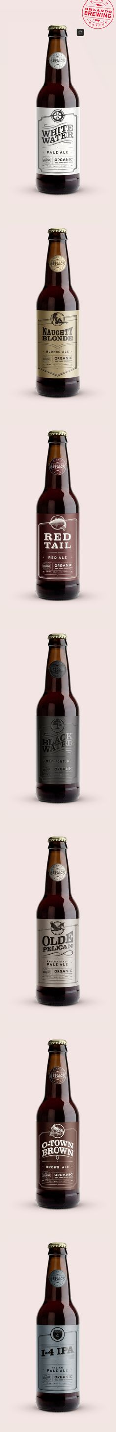 White Water Pale Ale design for Orlando Brewing Co. by Ross Burwell