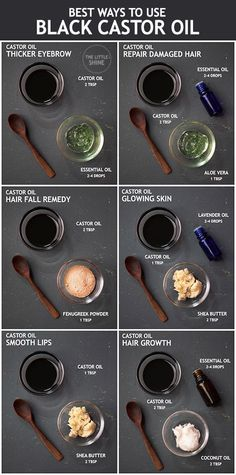 BLACK CASTOR OIL BENEFITS AND WAYS TO USE - The Little Shine