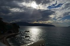 Sun light on the Vlore sea, Albania