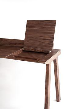 MADE | Ernest for Punt · Industrial Design + Architecture - Borja Garcia        #design #wood #desk #secreter #punt #minimal