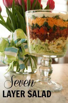 Seven Layer Salad for Easter