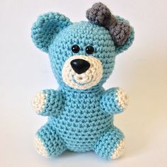 Stuffed animals are a classic children's toy that has been revitalized with the advent of amigurumi toys. I have designed a crochet pattern for your very own little teddy with a bow! This teddy bear will make lovely baby shower gifts or birthday presents for adults and children alike.