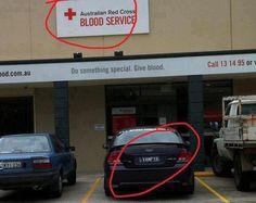 visitante suspeito no banco de sangue. #wtf