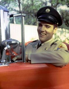 """Still shot """"GI Blues"""" 1960. The first movie Elvis starred in after being discharged from the Army."""