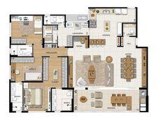 planta de casas com 4 quartos - Pesquisa Google