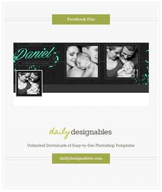 Daniel Collection Facebook Duo - photoshop templates for photographers, designers & the creative in everyone...