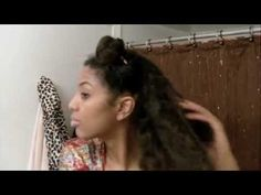 Natural Hairstyle: Easy Bantu Knot Out/Bun Out on Blow Dried Hair