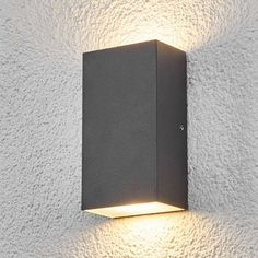 Buy Effective Morena LED outdoor wall light ✓Top-rated service ✓Comfortable & secure payment Years of experience ✓Order now! Garden Wall Lights, Led Outdoor Wall Lights, Outdoor Walls, Outdoor Lighting, External Lighting, Grey Paint, Light Decorations, Lighting Design, Glass