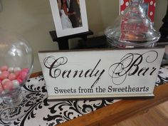 Vintage Candy Bar Sign Sweets from the by OurHobbyToYourHome, $44.95