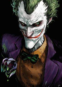 Bat Joker, Joker Arkham, Joker Art, Joker And Harley Quinn, Joker Dc Comics, Joker Comic, Arte Dc Comics, Comic Villains, Comic Book Characters