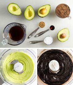 Dark Chocolate Avocado Frosting - this delicious vegan dairy free recipe takes just minutes to prepare and you'd never guess it's made with avocados! | VeggiePrimer.com