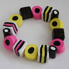 My Sister in law would love this!!! SALE - Polymer Clay Allsorts Bracelet #2