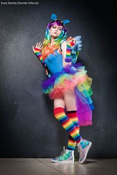 CUTE Rainbow Dash tutu and hologram shoes! - 11 Rainbow Dash Cosplays