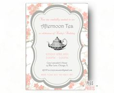 Items Similar To Birthday Tea Party Invitation