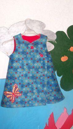 free wrap dress pattern, size 6mos