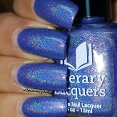Literary Lacquers - There Is Your Treasure | Hella Holo Customs November 2015 | November 15, 2015 | Periwinkle linear holo with pink shimmer and flakies.  The name is inspired by The Alchemist by Paulo Coelho and was suggested by Liz Molnar!