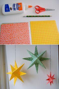 DIY: paper stars: estrellas de navidad