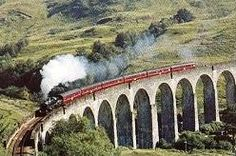 Harry Potter train - Glenfinnan Viaduct on the Fort William to Mallaig leg.