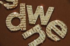 """""""Sugared"""" letters using Diamond Dust"""