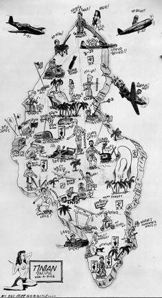 WW ll Tinian Island Map
